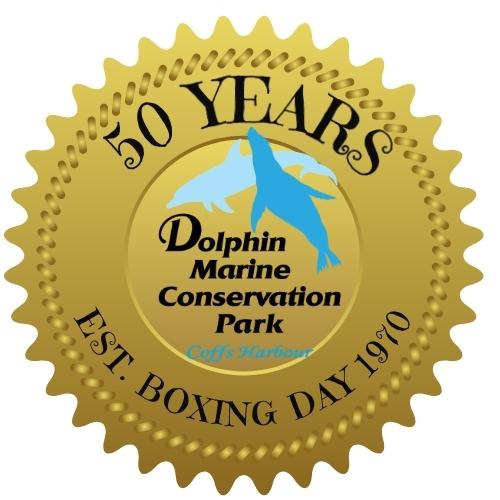 Dolphin Marine Conservation Park 50 Years logo